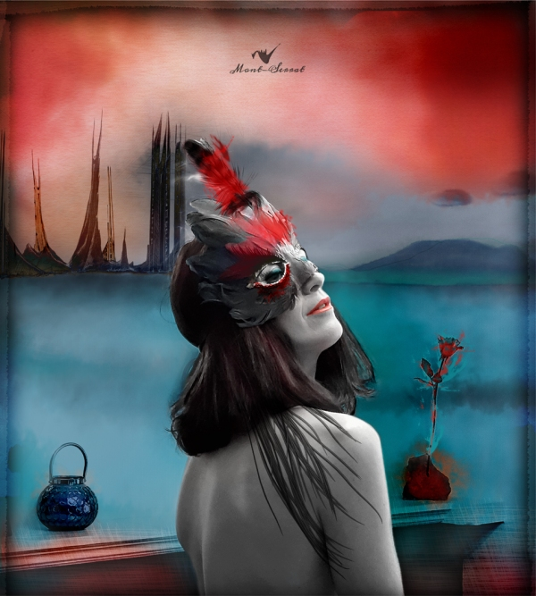 """Retrato digital """"la máscara"""""""