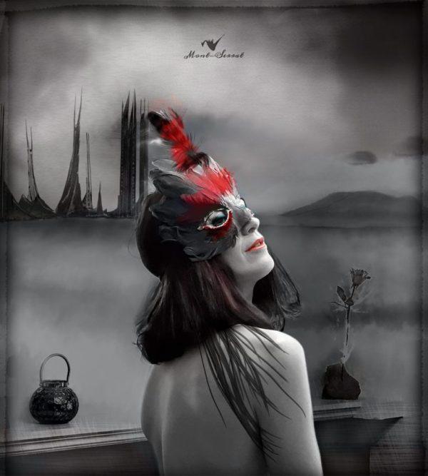 """""""la máscara"""" en grises"""